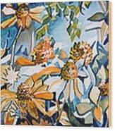 Daisy Carnival Wood Print