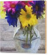 Daisy Crazy Revisited Wood Print