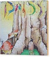 Daisy Fairy Illustration Wood Print