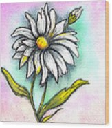Daisy Thoughts Wood Print