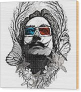 Dali In 3d Wood Print