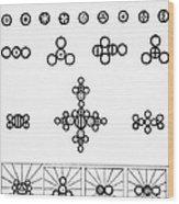 Daltons Symbols Wood Print