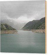 Dam Reservoir Wood Print