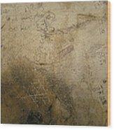 Damaged Surface Iv Wood Print