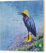 Damn Rain Wood Print by Tracey Tilson