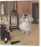Dance Class Wood Print by Edgar Degas