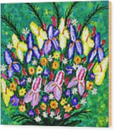 Dance Of The Flowers Wood Print