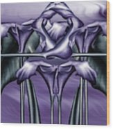 Dance Of The Purple Calla Lilies V Wood Print