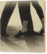 Dance Practice Wood Print by Leslie Leda
