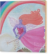 Dance With The Fairy Queen Wood Print