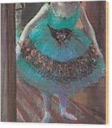 Dancer Leaving Her Dressing Room Wood Print by Edgar Degas