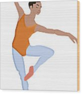 Dancer Wood Print by Melissa Stinson-Borg
