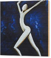 Dancer Of Light  Wood Print by Simona  Mereu