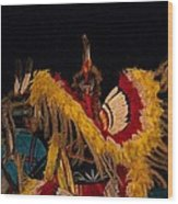 Dancing Feathers Wood Print
