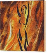 Dancing Fire V Wood Print