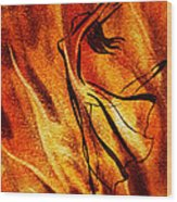 Dancing Fire Vi Wood Print