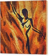 Dancing Fire Vii Wood Print