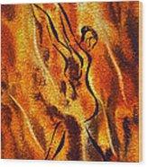 Dancing Fire Viii Wood Print