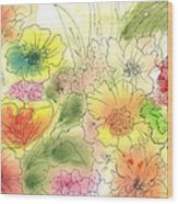Dancing Flowers Wood Print by Christine Crawford