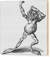 Dancing Frog, Conceptual Artwork Wood Print by Bill Sanderson
