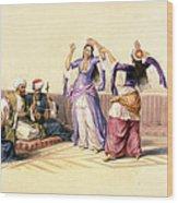 Dancing Girls At Cairo Wood Print