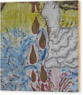 Dancing In Oil Wood Print