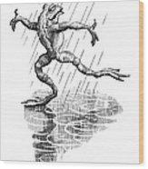 Dancing In The Rain, Conceptual Artwork Wood Print by Bill Sanderson