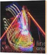 Dancing Lights  Magical Light Trails Wood Print