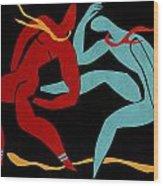 Dancing Scissors 21 Wood Print