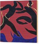 Dancing Scissors 24 Wood Print