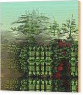 Dancing Trees On Alien Cliffs Wood Print