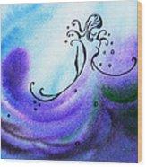 Dancing Water II Wood Print