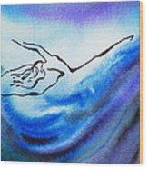 Dancing Water IIi Wood Print
