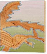 Dangerous Dinosaurs Wood Print