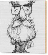 Daniel Dennett, Us Cognitive Scientist Wood Print by Gary Brown