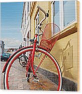 Danish Bike Wood Print by Robert Lacy