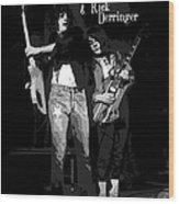 D J And R D In Spokane 1977 Wood Print