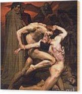 Dante And Virgil In Hell Wood Print