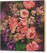 Dark Bouquet Wood Print