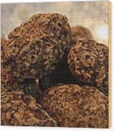 Dark Chocolate Almonds Wood Print