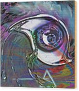 Dark Side Eye Wood Print