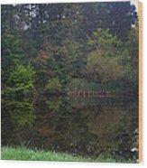 Dark Lake 1 Wood Print