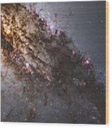 Dark Lanes Of Dust Crisscross Wood Print