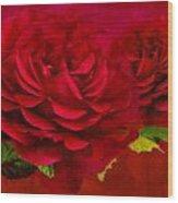 Dark Pink Rose Wood Print
