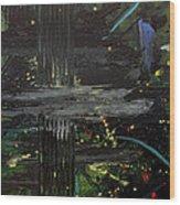 Dark Space Wood Print by Ethel Vrana