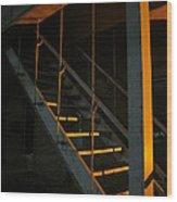 Dark Stairway Wood Print