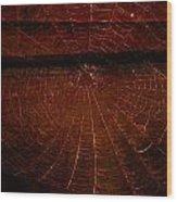 Dark Web Wood Print