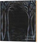Dark Woods Wood Print