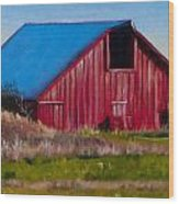 Darst Barn On West Beach Road Wood Print