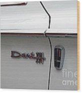 Dart 330 Emblem Wood Print